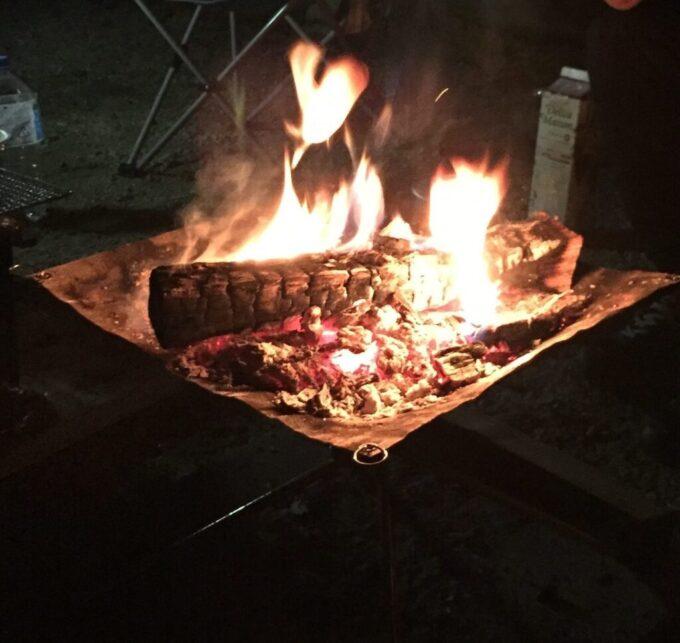 焚き火@十二坊温泉オートキャンプ場