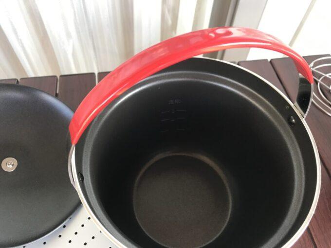 コールマンのアルミ製ライスクッカー