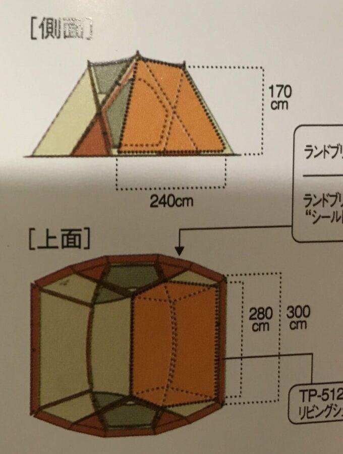 リビシェルのインナールームのサイズ