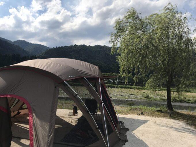 朽木オートキャンプ場でソロキャンプ
