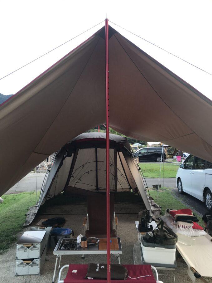 リビングシェルSでソロキャンプ
