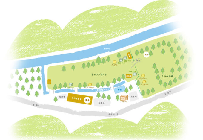 くるみ温泉&キャンプの地図