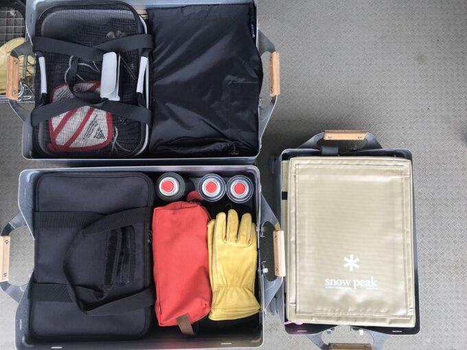 スノーピーク シェルコン50とシェルコン25の収納例